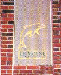 LeMoyne Logo in wall