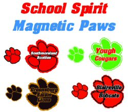 School Spirit magnetic signs